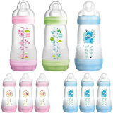 MAM: 3x 260ml Set, Anti-Kolik Babyflasche