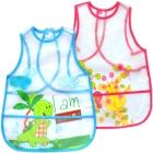 Nursery Time: Ärmellos-Lätzchen transparent, mit Tasche