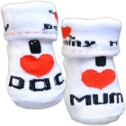 Nursery Time: Baby Söckchen Socken I Love Mummy, I Love Daddy