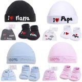Soft Touch: Baby Socken und Mützchen Set 100% Baumwolle