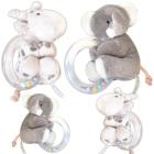 Cuddle Corner: Beißring Babyrassel mit Plüschtier Elli & Raff
