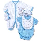 Aardvark: 5-teiliges Baby-Set Modell Bärchen blau