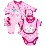 Aardvark: 5-teiliges Baby-Set Modell: Perfect Princess rosa