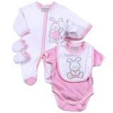 Aardvark: 5-teiliges Baby-Set Modell: Häschen rosa