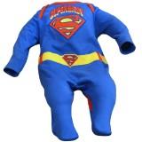 Superbaby Strampler im Superman-Design blau