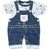 Little Mariner: 2-teiliges Baby Set Jeans-Latzhose und Shirt