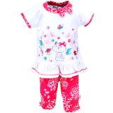 Watch Me Grow: 2-teiliges Baby-Set Kleid und Hose Blumen-Kätzchen