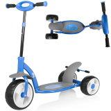 Billy: Drei-Rad Kinder Roller mit Doppelbremse Mango BL203 blau
