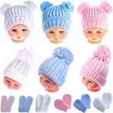 Soft Touch: Babymütze Bommelmütze und Handschuhe
