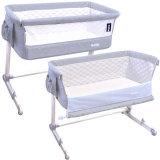 Baby Beistellbett Babybett verstellbar LUX BED (HELLGRAU)